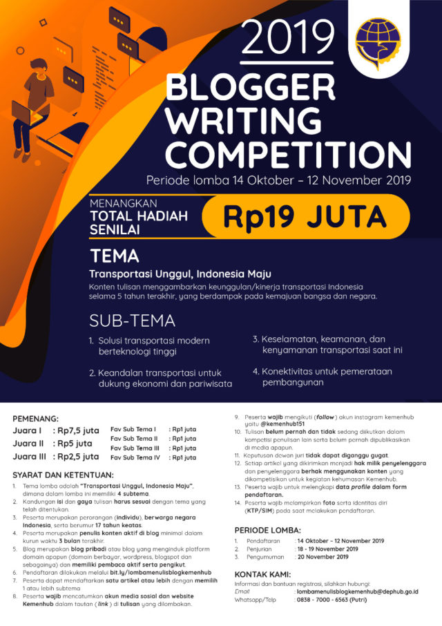 Kemenhub Gelar 'Blogger Writing Competition 2019'